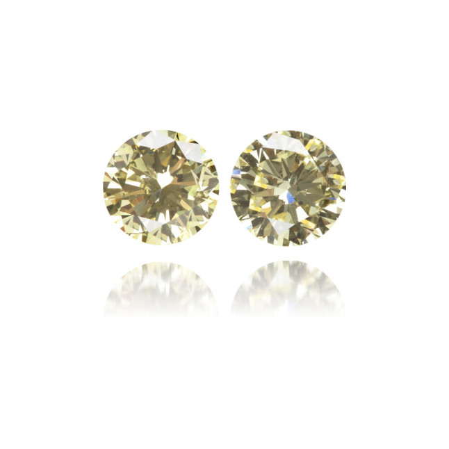 Natural Yellow Diamond Round 0.83 ct Set