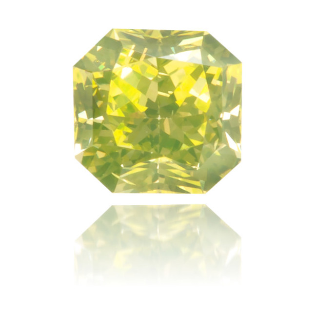 Natural Green Diamond Square 0.22 ct Polished
