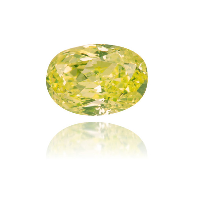 Natural Green Diamond Oval 0.37 ct Polished