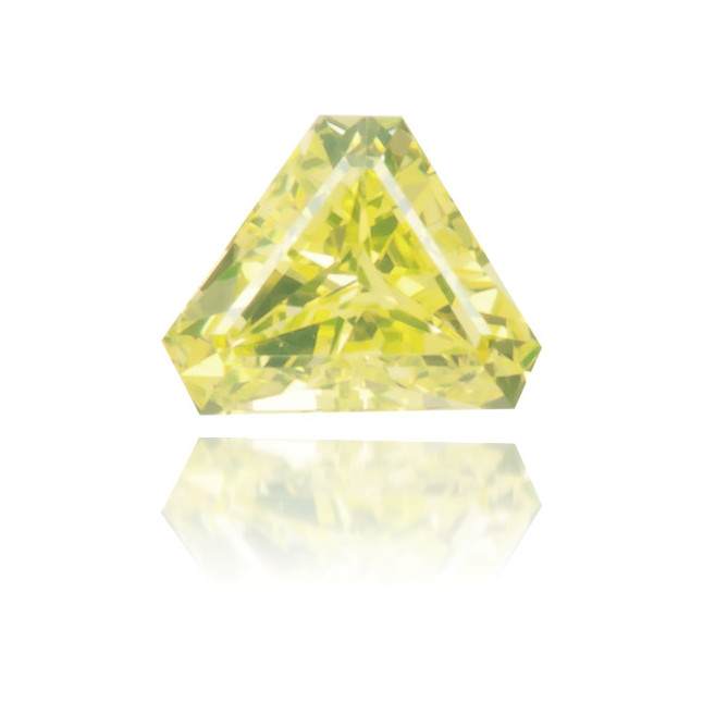 Natural Yellow Diamond Triangle 0.09 ct Polished
