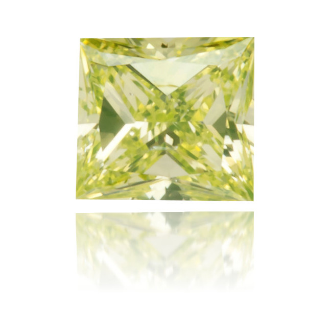 Natural Green Diamond Square 0.13 ct Polished