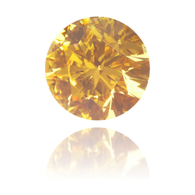 Natural Orange Diamond Round 0.36 ct Polished