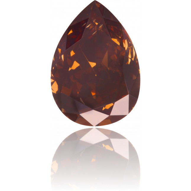 Natural Brown Diamond Pear Shape 1.06 ct Polished