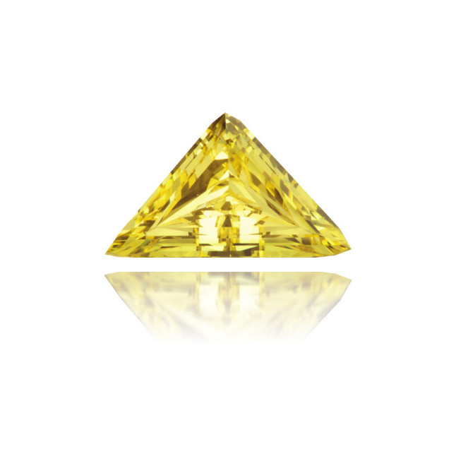 Natural Yellow Diamond Triangle 0.32 ct Polished