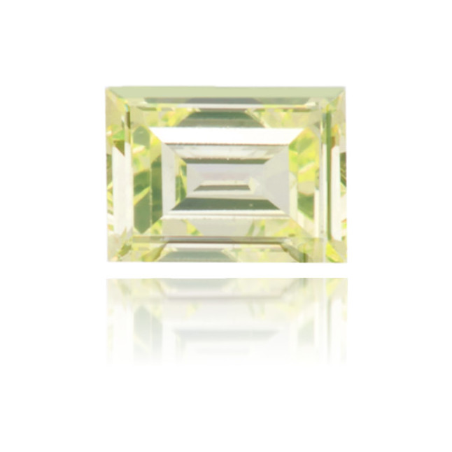 Natural Green Diamond Baguette 0.16 ct Polished