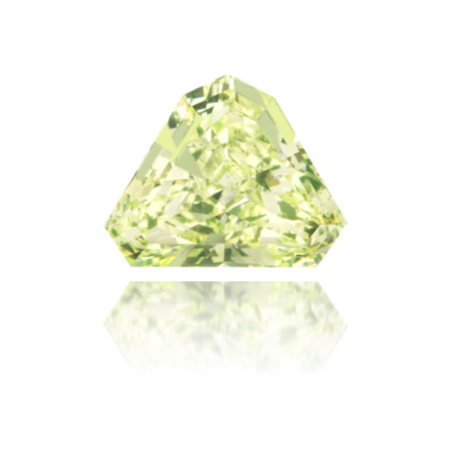 Natural Green Diamond Triangle 0.54 ct Polished