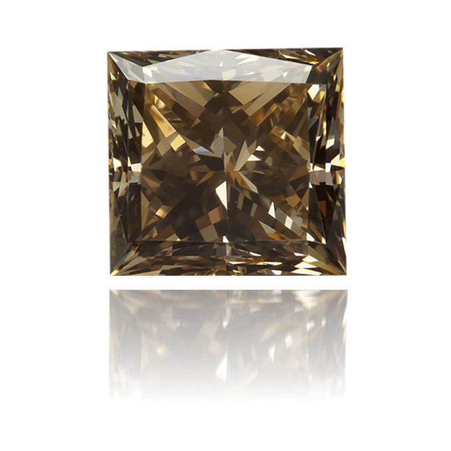 Natural Brown Diamond Square 0.12 ct Polished