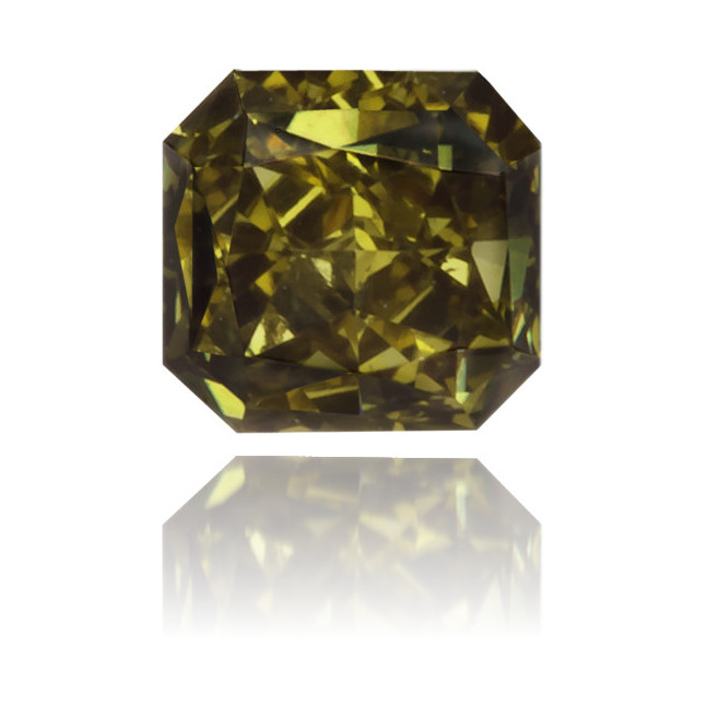 Natural Green Diamond Square 0.16 ct Polished