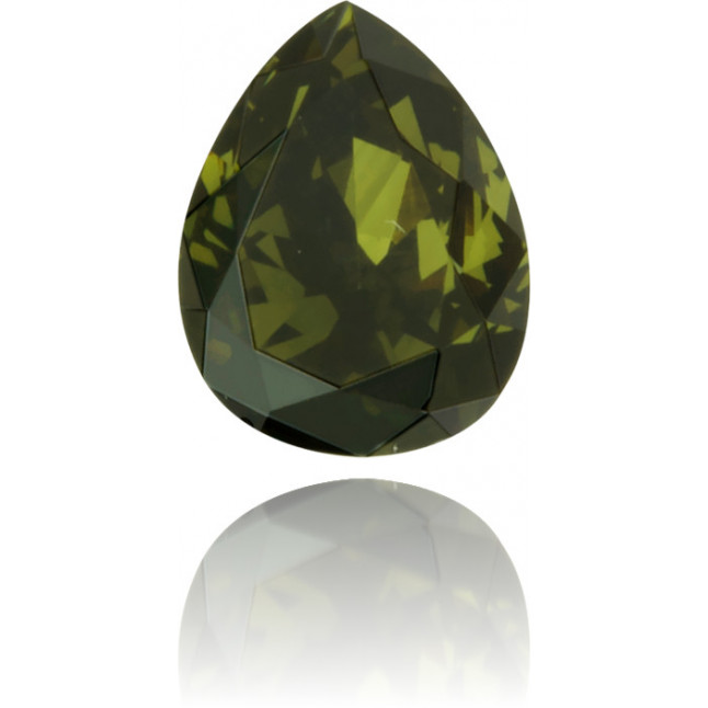 Natural Green Diamond Pear Shape 0.19 ct Polished