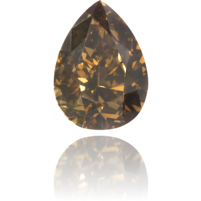 Natural Brown Diamond Pear Shape 0.13 ct Polished