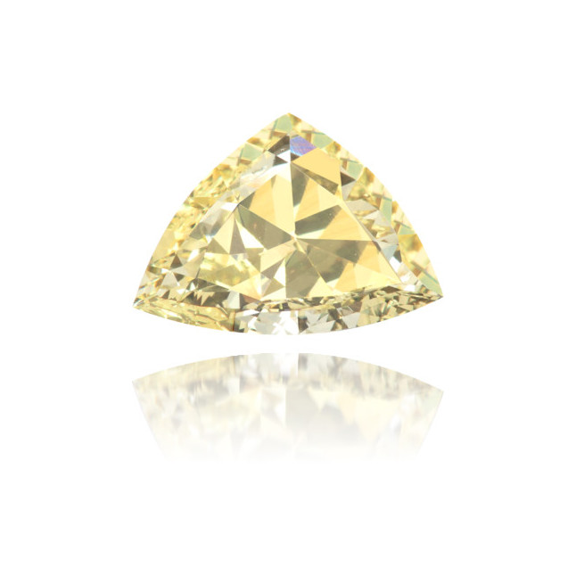Natural Yellow Diamond Triangle 1.83 ct Polished