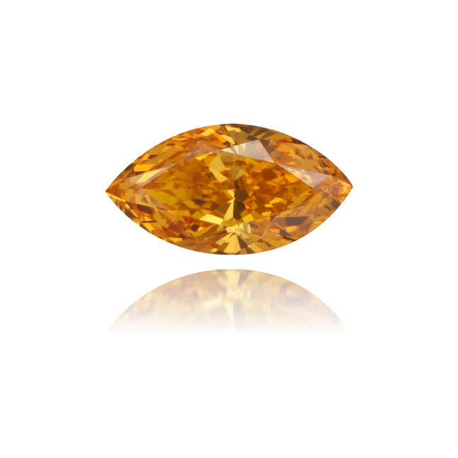 Natural Orange Diamond Marquise 0.29 ct Polished