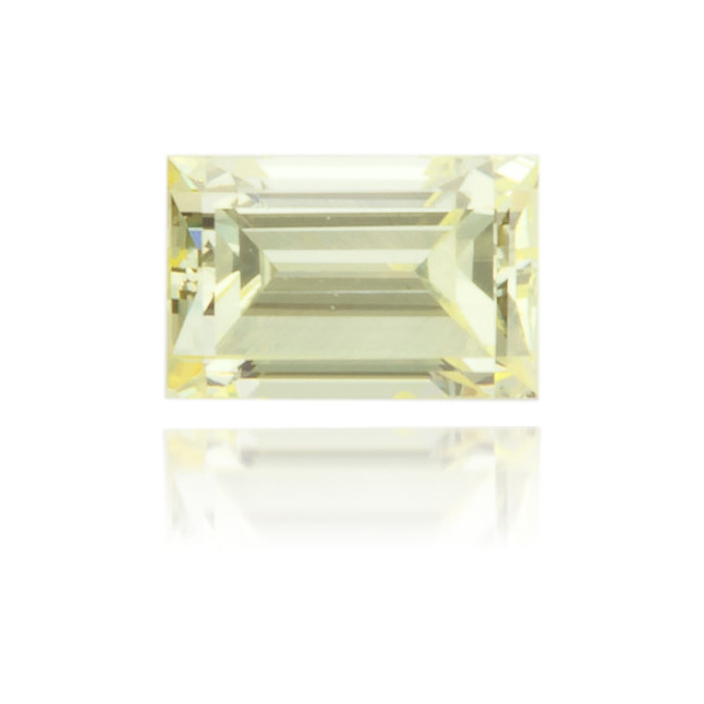 Natural Yellow Diamond Baguette 0.18 ct Polished