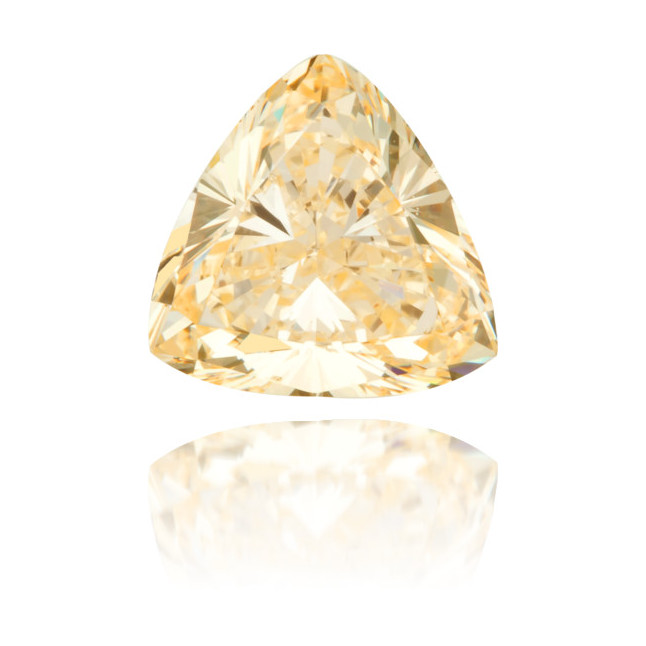 Natural Yellow Diamond Triangle 0.88 ct Polished