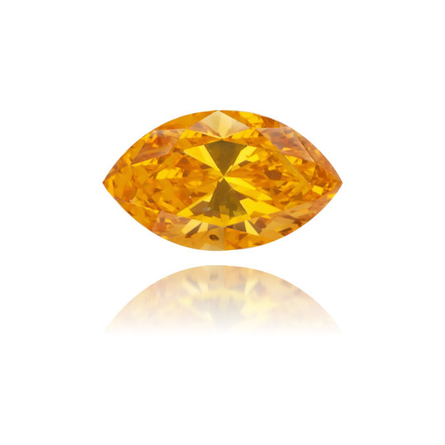 Natural Orange Diamond Marquise 0.10 ct Polished