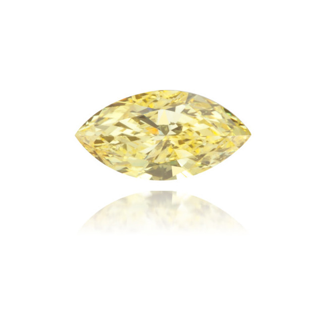 Natural Yellow Diamond Marquise 0.11 ct Polished