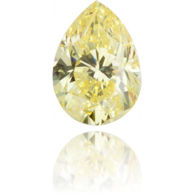 Natural Yellow Diamond Pear Shape 0.18 ct Polished