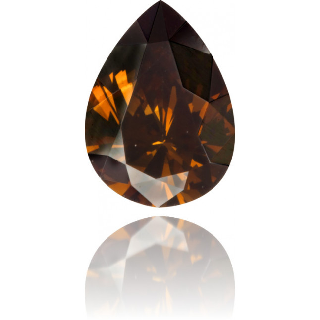 Natural Brown Diamond Pear Shape 0.34 ct Polished