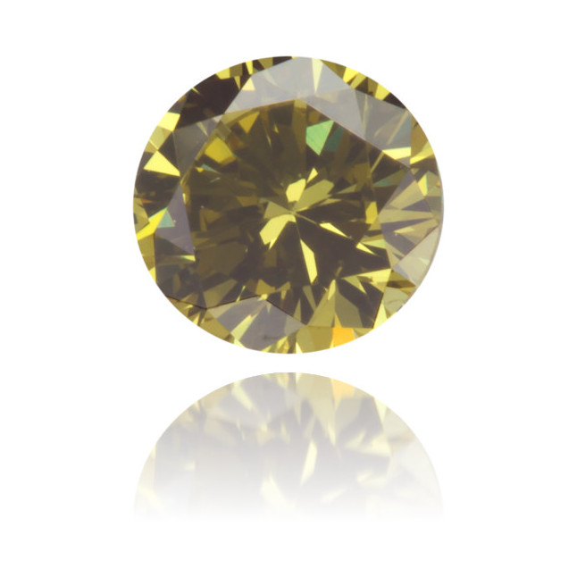 Natural Green Diamond Round 0.34 ct Polished