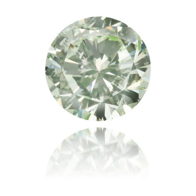 Natural Green Diamond Round 0.52 ct Polished