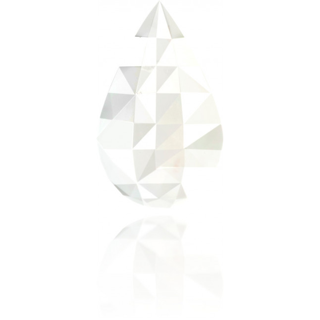 Natural White Diamond Briolet 3.95 ct Polished