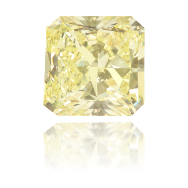 Natural Yellow Diamond Square 0.88 ct Polished