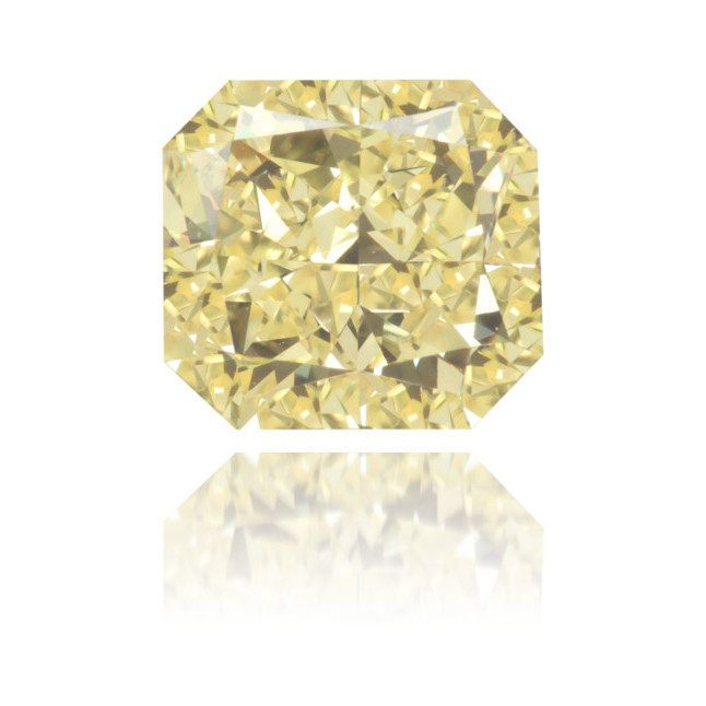 Natural Yellow Diamond Rectangle 1.07 ct Polished