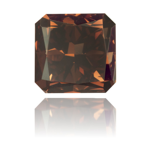 Natural Brown Diamond Square 2.17 ct Polished