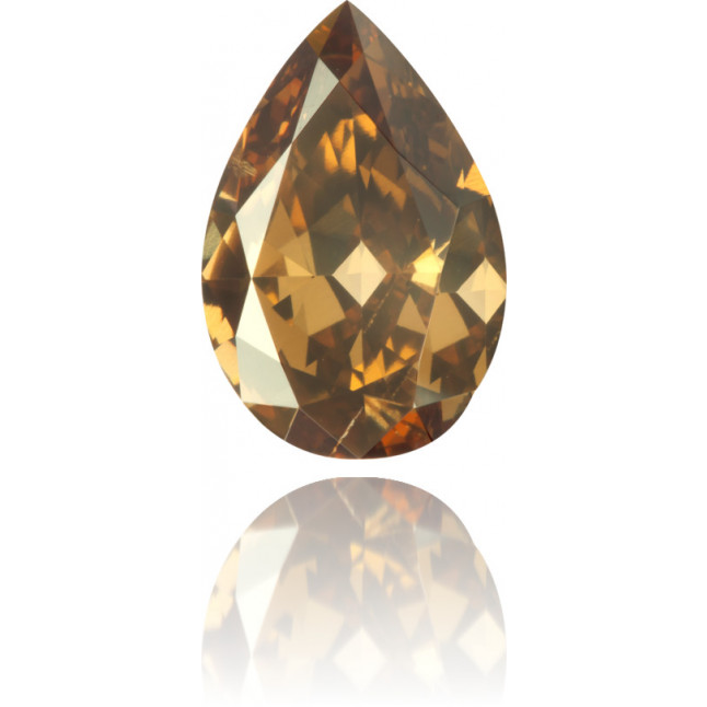 Natural Brown Diamond Pear Shape 3.01 ct Polished