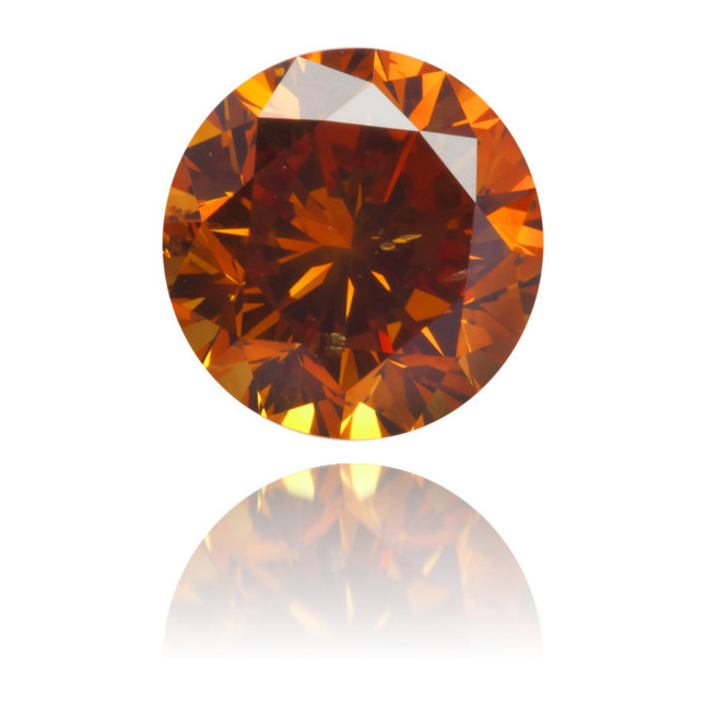 Natural Orange Diamond Round 0.98 ct Polished