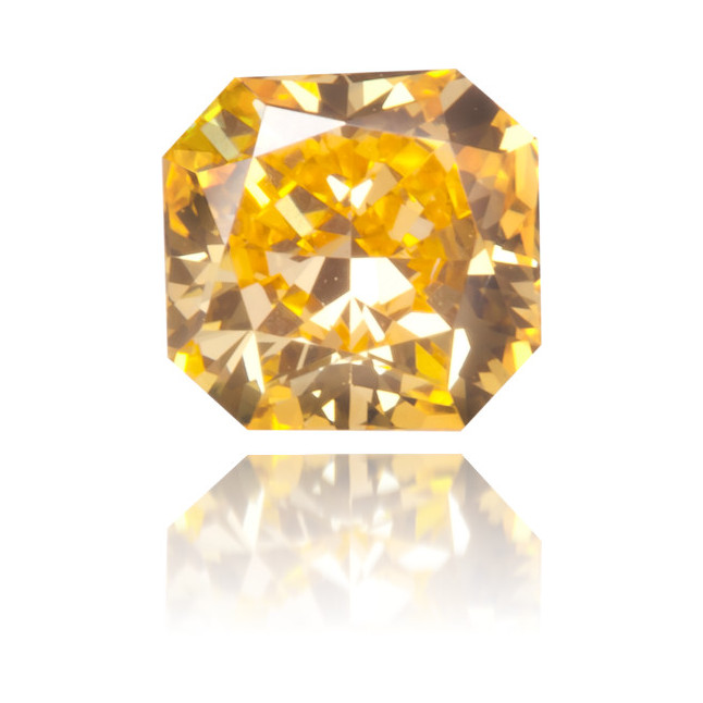 Natural Orange Diamond Square 0.29 ct Polished
