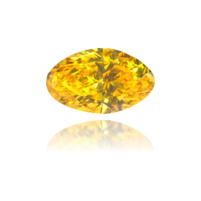 Natural Orange Diamond Oval 0.27 ct Polished