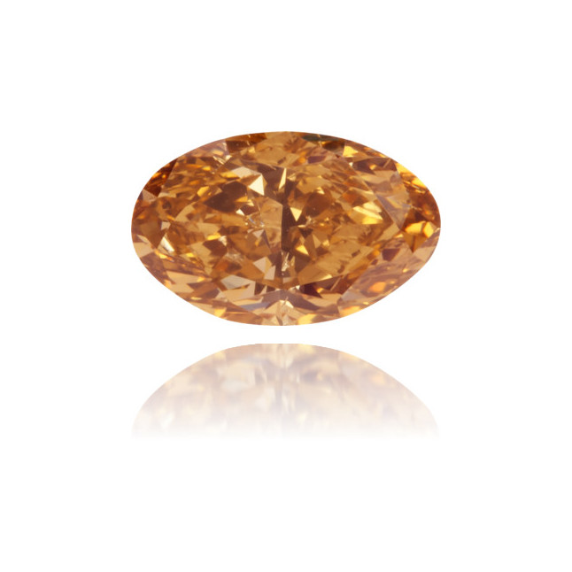 Natural Brown Diamond Oval 0.45 ct Polished