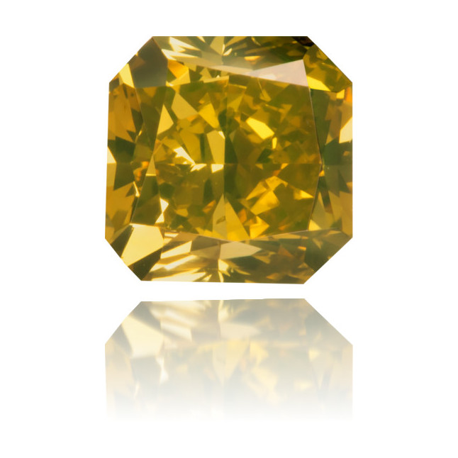 Natural Green Diamond Square 0.83 ct Polished