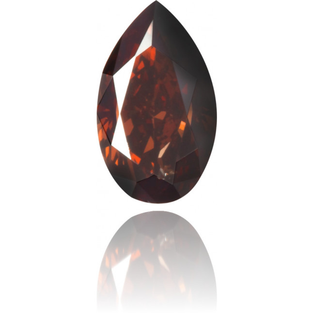 Natural Brown Diamond Pear Shape 0.21 ct Polished