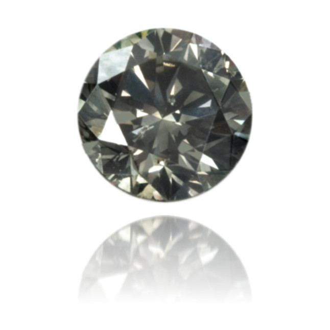 Natural Gray Diamond Round 0.41 ct Polished