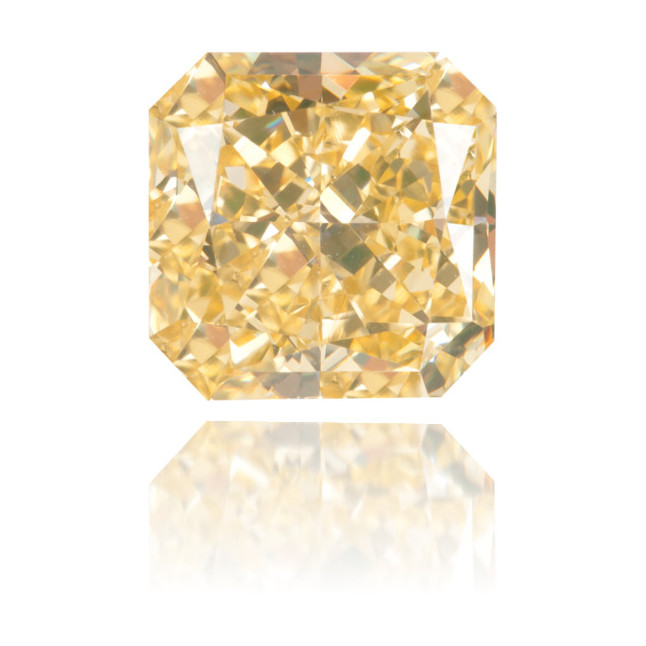 Natural Yellow Diamond Square 2.04 ct Polished