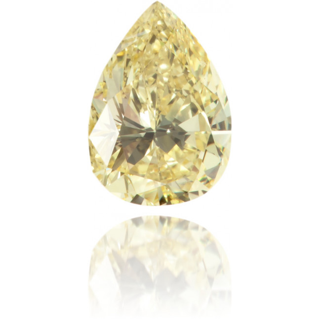 Natural Yellow Diamond Pear Shape 0.36 ct Polished