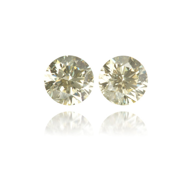 Natural Yellow Diamond Round 1.03 ct Set