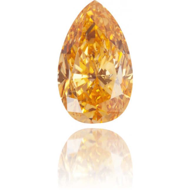 Natural Orange Diamond Pear Shape 0.65 ct Polished