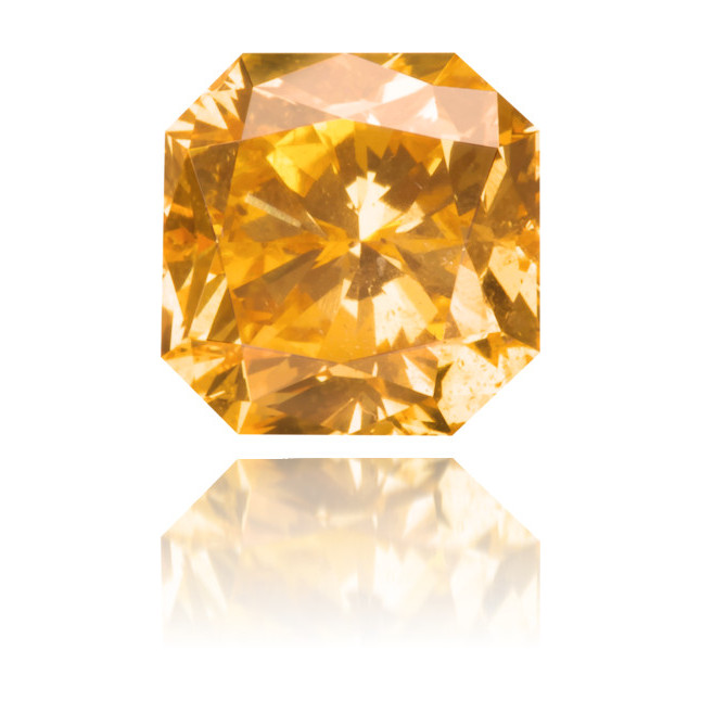 Natural Orange Diamond Square 0.92 ct Polished