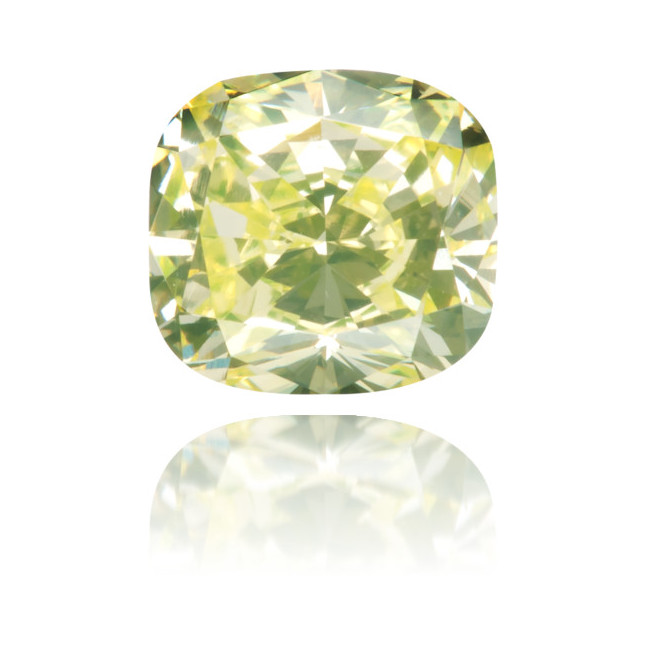 Natural Green Diamond Cushion 0.61 ct Polished