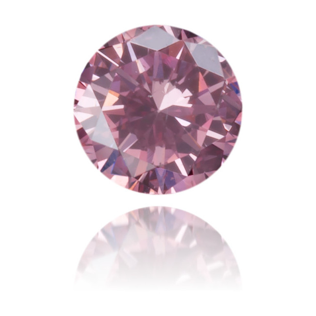 Natural Pink Diamond Round 0.10 ct Polished