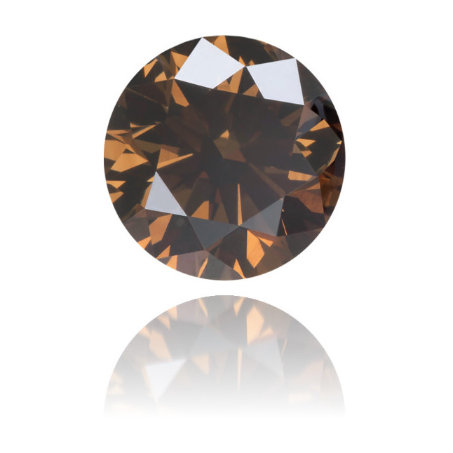 Natural Brown Diamond Round 0.81 ct Polished