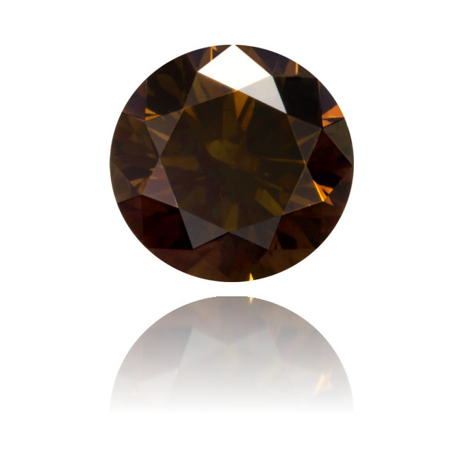 Natural Brown Diamond Round 0.61 ct Polished