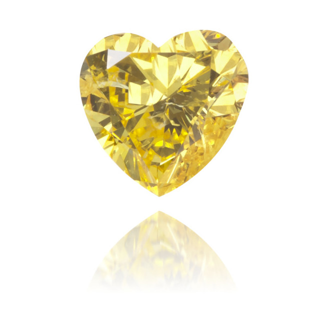 Natural Yellow Diamond Heart Shape 0.24 ct Polished