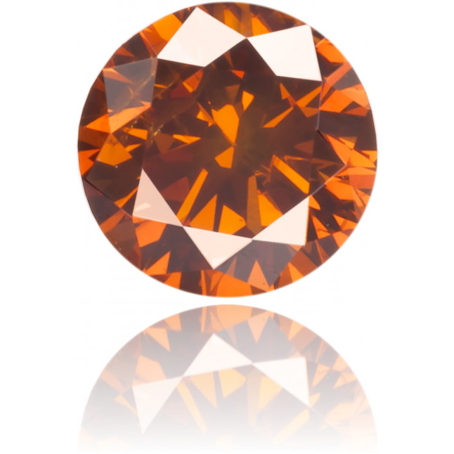 Natural Orange Diamond Round 0.22 ct Polished