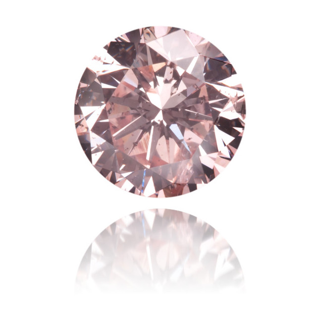 Natural Pink Diamond Round 0.71 ct Polished