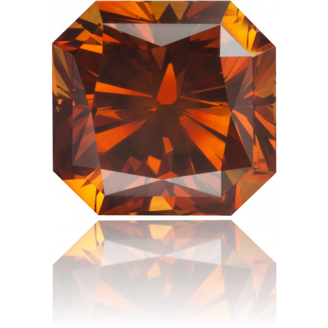 Natural Orange Diamond Rectangle 1.24 ct Polished