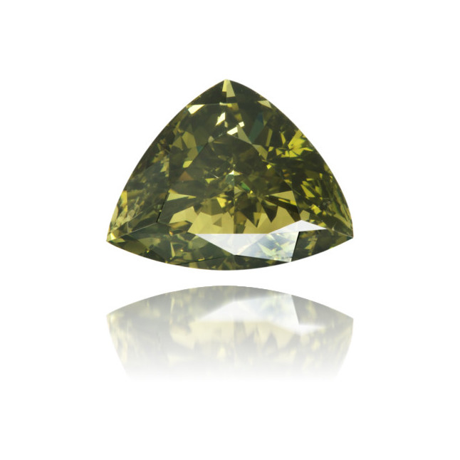 Natural Green Diamond Triangle 0.79 ct Polished